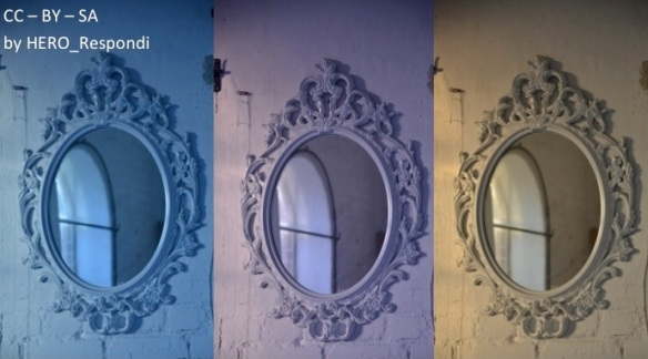 Trio i speglar