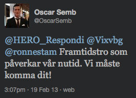 Oscar Semb om framtidstro