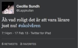Cecilia Sundh om lärarrollen idag!