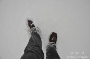 Fötter i snön