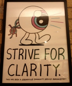 Strive for clarity