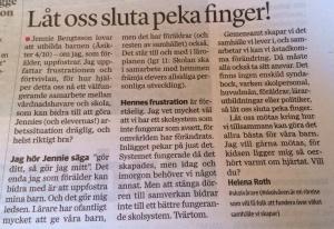 Låt oss sluta peka finger!