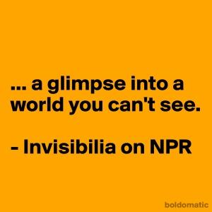 glimpse unseen worlds