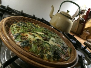 Nettle and feta cheese pie