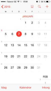 kalender med veckonummer