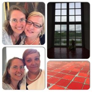 Idag har jag blivit kramad må du tro! Bland annat av vännen Susanne Jönsson och nyvunna vännen Anna Brix Thomsen. Och som sagt - en dag på Svaneholms Slott i den miljön. Detta är fönstersmygen på damtoaletten. Älskar fönstersmygar!
