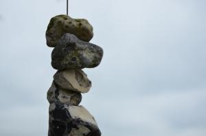 sten på tråd