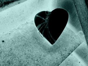 svart hjärta