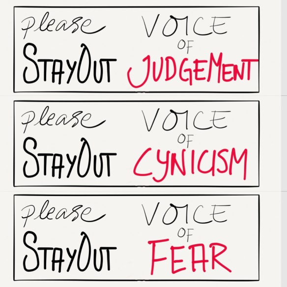 stay out door signs