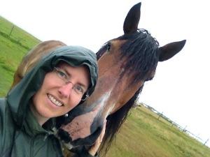 Regnkläder passar ypperligt för en promenad en regnig dag!